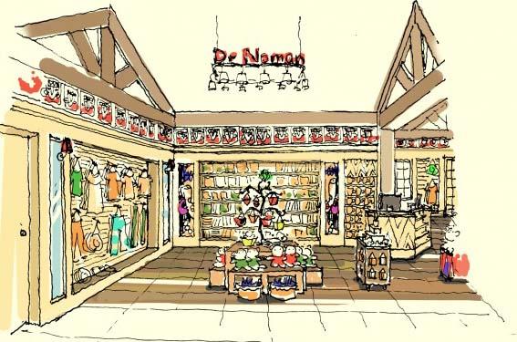 欢乐谷儿童商场手绘图