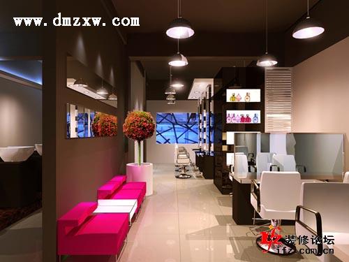 发廊装修图片,美发店装修,理发店装修,发廊灯饰; 发廊灯饰应用案例