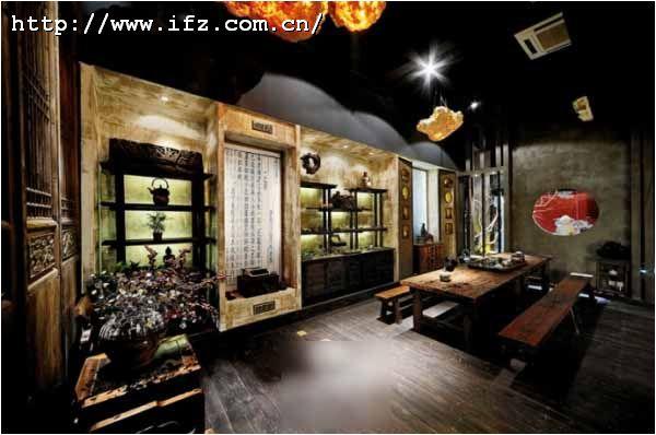 中式茶馆装修效果图图片